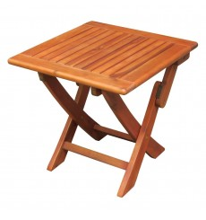 OT-53938 Outdoor Side Table | Square Folding | Oil Dipped