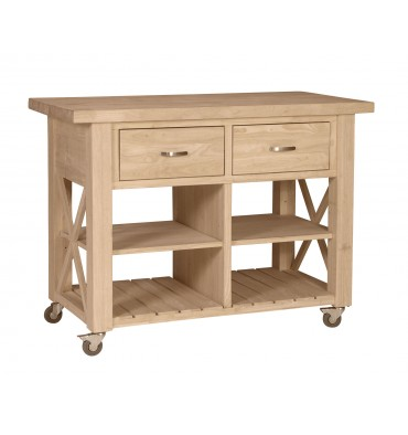 48 Inch Hampshire X Side Island Simply Woods Furniture