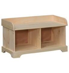 [35 Inch] Amish Double Cubby Bench