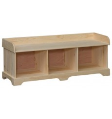 [51 Inch] Amish Triple Cubby Bench