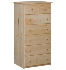 [27 Inch] Leighanne 6 Drawer Chest 9006