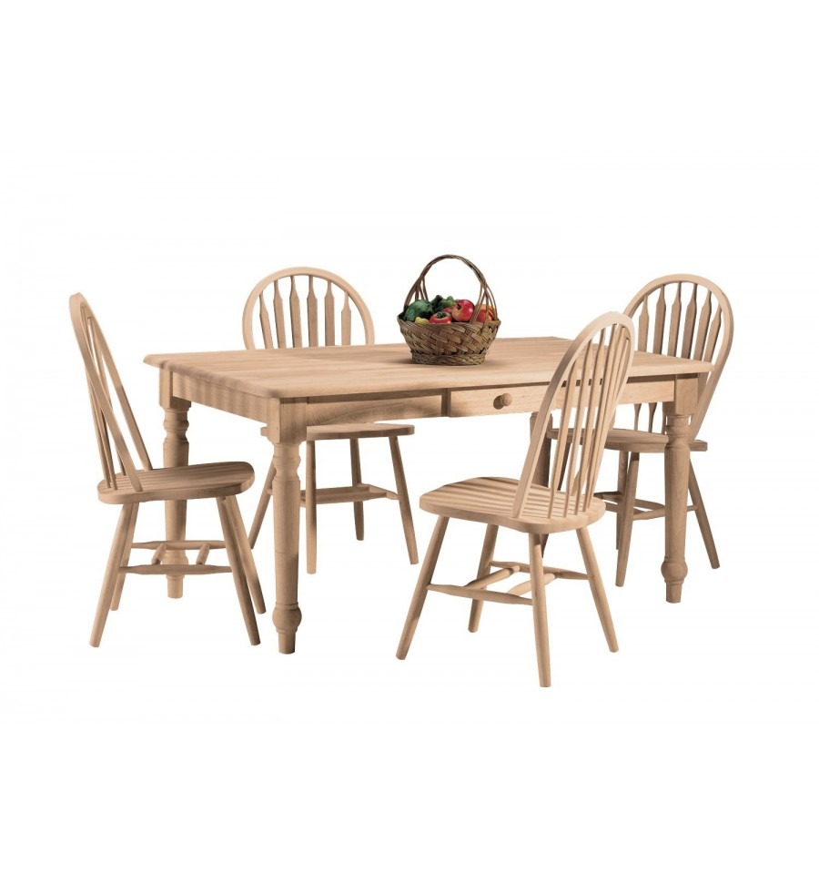 60 Inch Farmhouse Dining Table With Drawer Simply