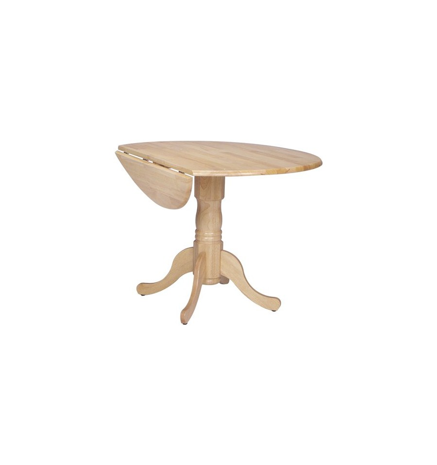 42x42 Inch Round Dropleaf Table Simply Woods Furniture