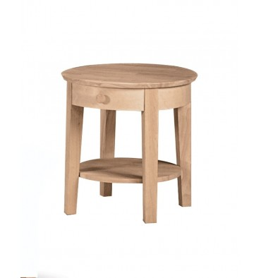 21 Inch Phoebe Round End Table Simply Woods Furniture