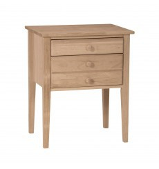 [24 Inch] 2 Drawer Country Accent Table