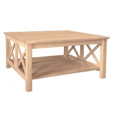 [36 Inch] X Side Richmond Square Coffee Table