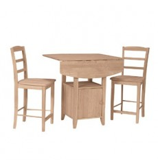 [38 Inch] Bistro Dropleaf Gathering Table