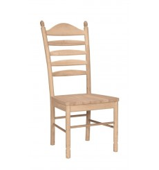 Wide Slat Ladderback Side Chairs