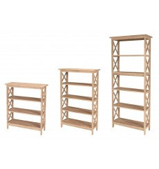 [30 Inch] X-Sided Etagere Bookcases