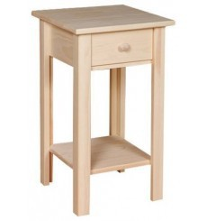 13 Inch White Horse Side Table 412
