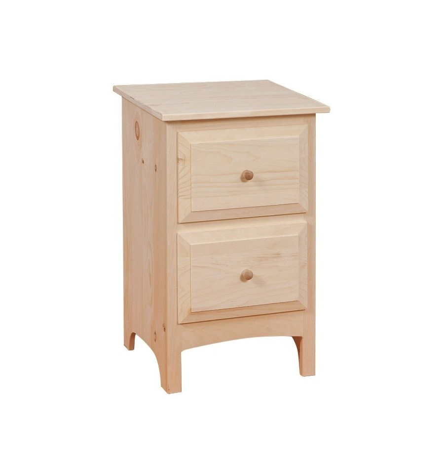 18 Inch 2 Drawer Nightstand 722 Simply Woods Furniture