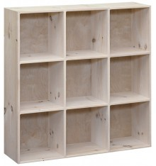 [41 Inch] Amish 3x3 Cube Cubby 774