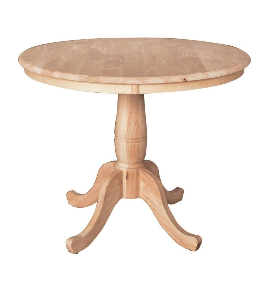 36x36 Inch Classic Round Dining Table Simply Woods