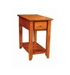 [14 Inch] Alder Shaker Chairside Table - shown in Antique Cherry finish