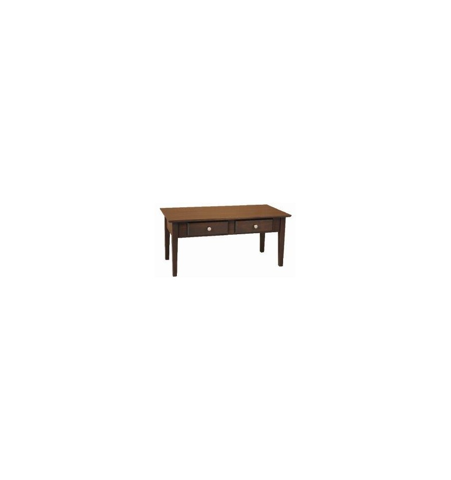 [40 Inch] Alder Shaker Coffee Table   Shown In Coffee Finish ...