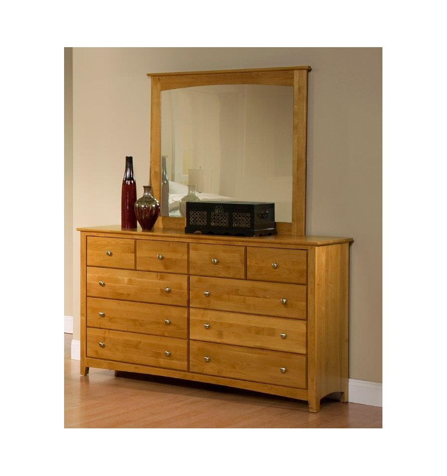 61 Inch Alder Shaker 10 Drawer Dresser Simply Woods