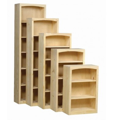 24 48 Inch Afc Pine Shaker Bookcases Simply Woods