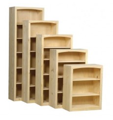 [24-48 Inch] AFC Pine Shaker Bookcases