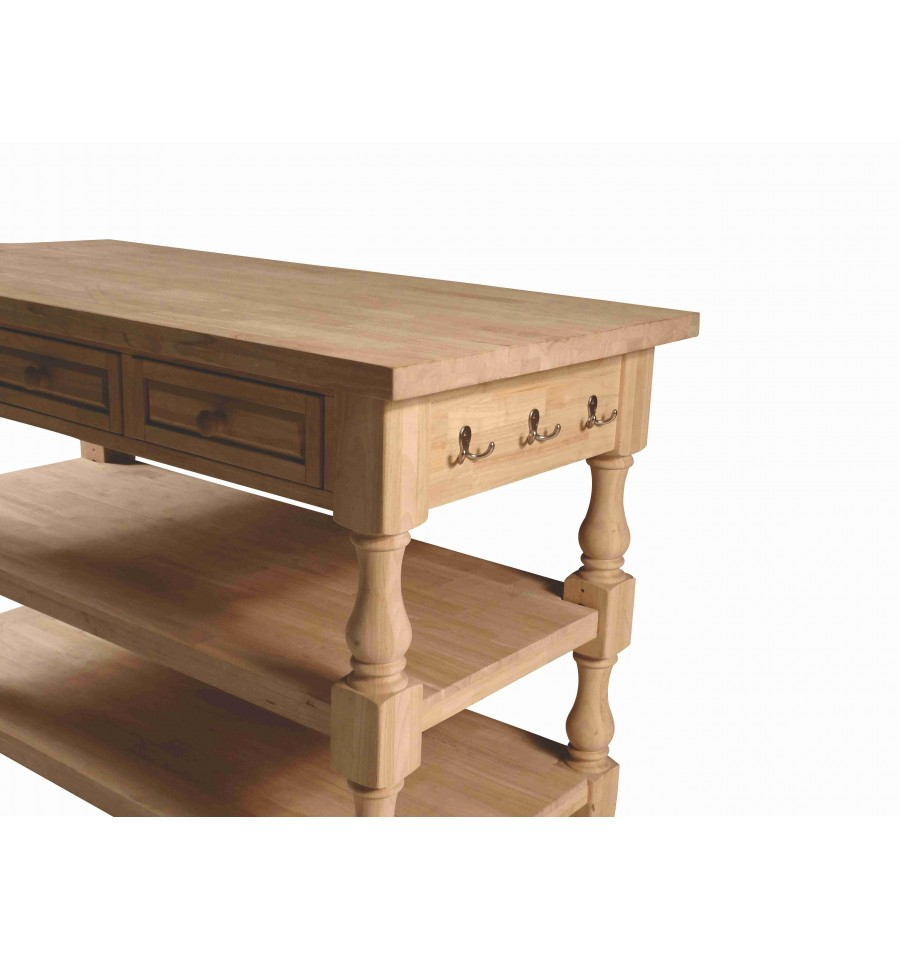 60 inch] tuscan kitchen island - simply woods furniture