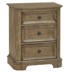 [26 Inch] Stonewood 3 Drawer Nightstand