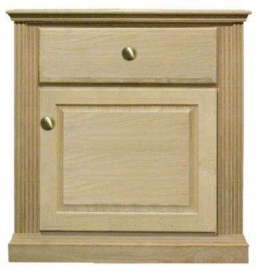 [23 Inch] Fluted Nightstand 4401/DR