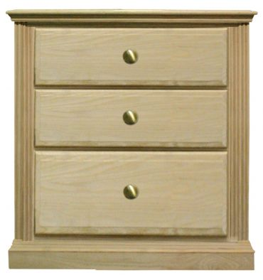 [23 Inch] Fluted 3 Drawer Nightstand