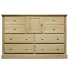 [58 Inch] Fluted 8 Drawer Dresser