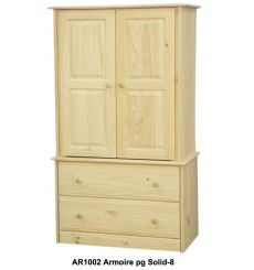 [34 Inch] Sierra 2 Drawer Armoire