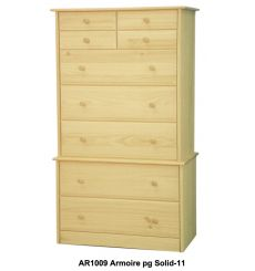 [34 Inch] Sierra 9 Drawer Armoire