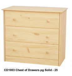 [34 Inch] Sierra 3 Drawer Chest
