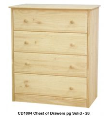 [34 Inch] Sierra 4 Drawer Chest