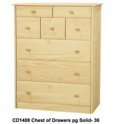[34 Inch] Sierra 8 Drawer Chest
