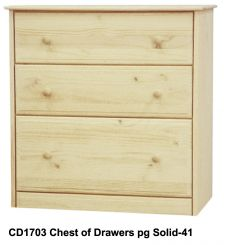 [34 Inch] Sierra 3 Drawer Chest v3