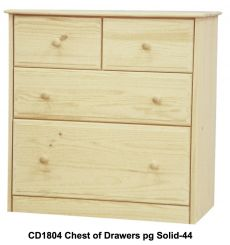 [34 Inch] Sierra 4 Drawer Chest v4