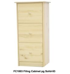 [20 Inch] Sierra 3 Drawer File Cabinet