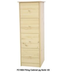 [20 Inch] Sierra 4 Drawer File Cabinet