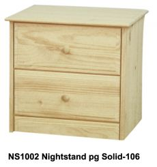 [23 Inch] Sierra 2 Drawer Nightstand
