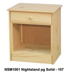 [18 Inch] Sierra 1 Drawer Nightstand