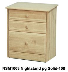[18 Inch] Sierra 3 Drawer Nightstand