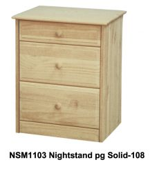 [18 Inch] Sierra 3 Drawer Nightstand v2