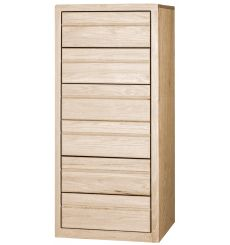 [24 Inch] Contemporary 6 Drawer Lingerie Chest