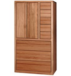 [36 Inch] Contemporary 6 Drawer Armoire