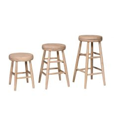 Scoop Seat Swivel Stools