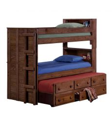 Bookcase Panel Trundle Bunk Beds 4905
