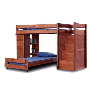 Reversible Staircase Loft Beds 49072 Simply Woods