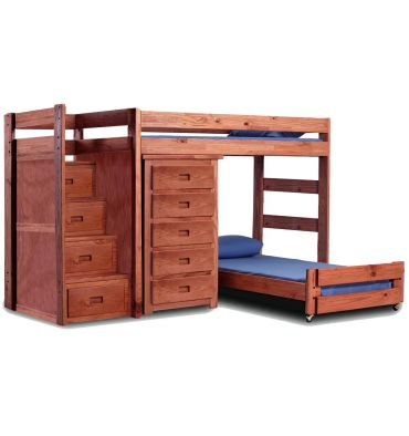Reversible Stairs Crews Qtrs Twin 40417a Simply Woods