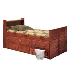 Shiplap Bookcase Captain's Beds 4961