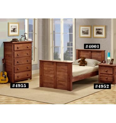 Shiplap Square Post Bed 4001 Simply Woods Furniture