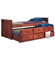 Shiplap Captain's Beds with Trundle 4091T
