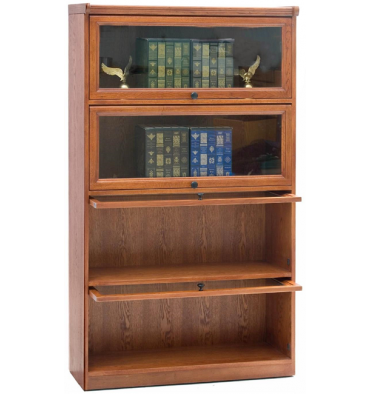 36 Inch Oak Barrister Bookcase Simply Woods Furniture